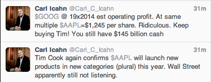 From Twitter @Carl_C_Icahn